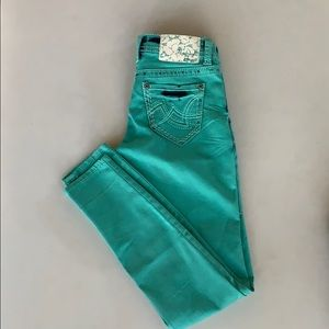 Turquoise Hydraulic jeans